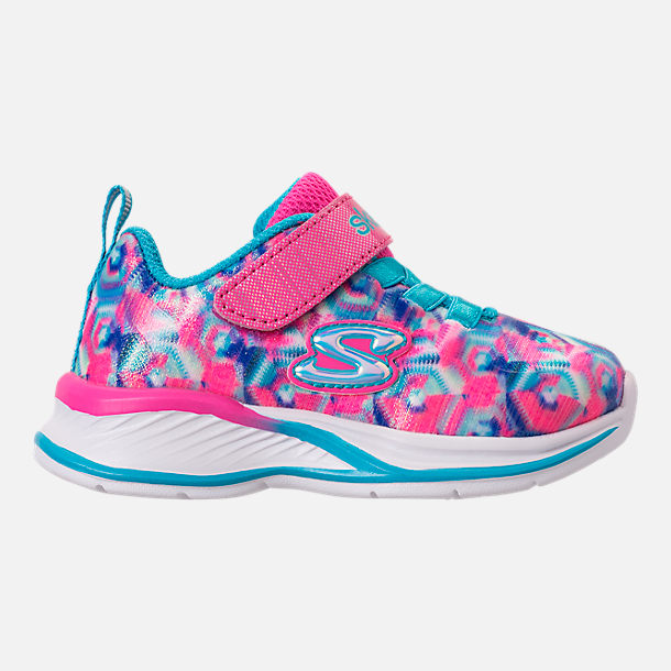 Right view of Girls' Toddler Skechers Jumpin Jam Hook-and-Loop Closure Running Shoes in Kaleidescope Print