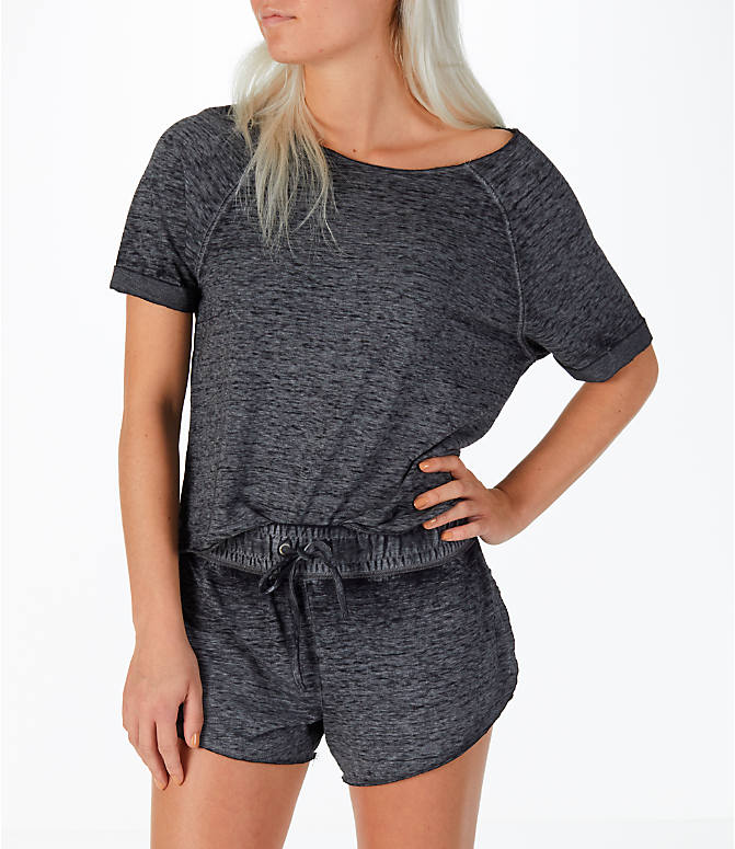 Front view of Women's Activ8 French Terry T-Shirt in Grey