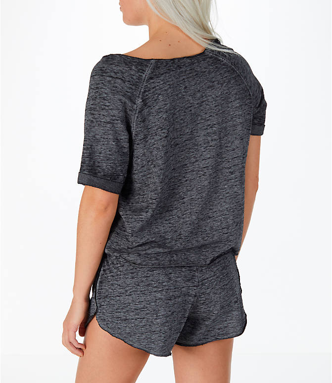 Back Left view of Women's Activ8 French Terry T-Shirt in Grey