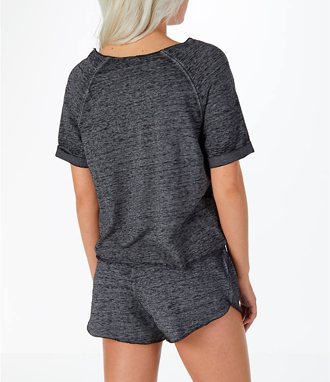 Back Right view of Women's Activ8 French Terry T-Shirt in Grey