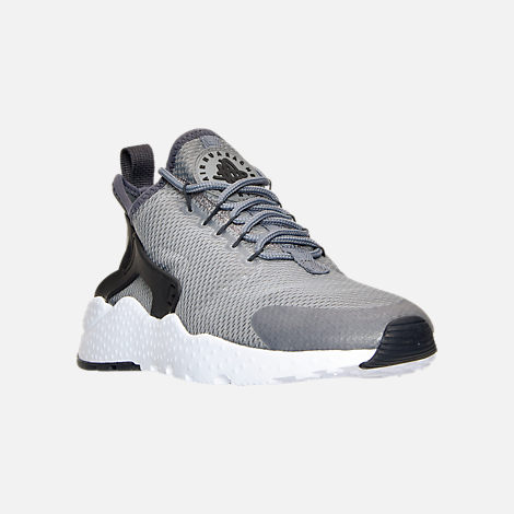Three Quarter view of Women's Nike Air Huarache Run Ultra Casual Shoes in Cool Grey/Anthracite/Black/White