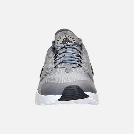 Front view of Women's Nike Air Huarache Run Ultra Casual Shoes in Cool Grey/Anthracite/Black/White