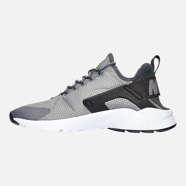 Left view of Women's Nike Air Huarache Run Ultra Casual Shoes in Cool Grey/Anthracite/Black/White