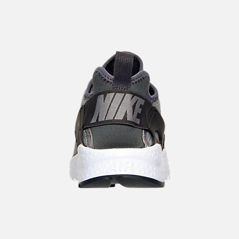 Back view of Women's Nike Air Huarache Run Ultra Casual Shoes in Cool Grey/Anthracite/Black/White