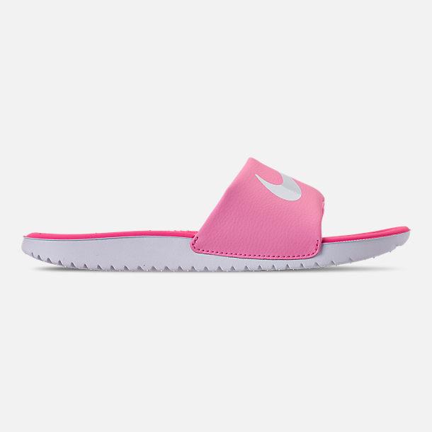 Right view of Girls  Big Kids  Nike Kawa Slide Sandals in Psychic Pink  84e6dbbfe
