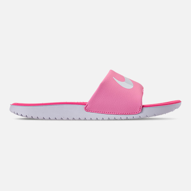Right view of Girls' Big Kids' Nike Kawa Slide Sandals in Psychic Pink/White/Laser Fuchsia