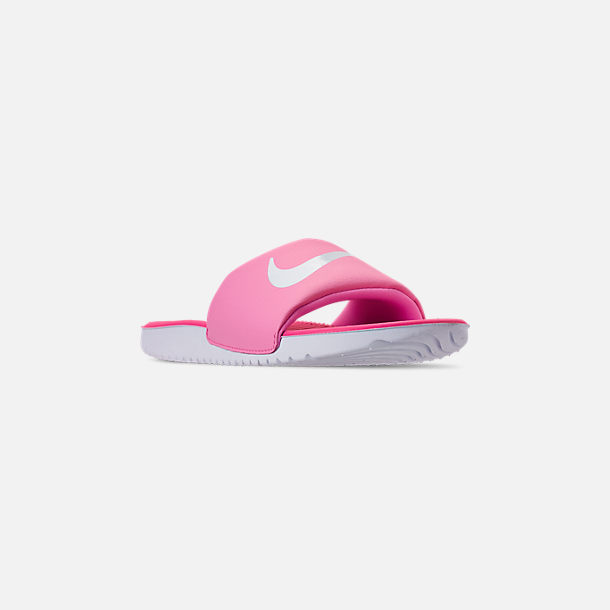 8761359f2fd8f Three Quarter view of Girls' Big Kids' Nike Kawa Slide Sandals in Psychic  Pink