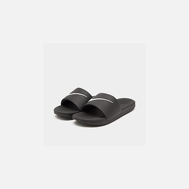 f60f1759e036 Three Quarter view of Boys  Big Kids  Nike Kawa Slide Sandals in Black