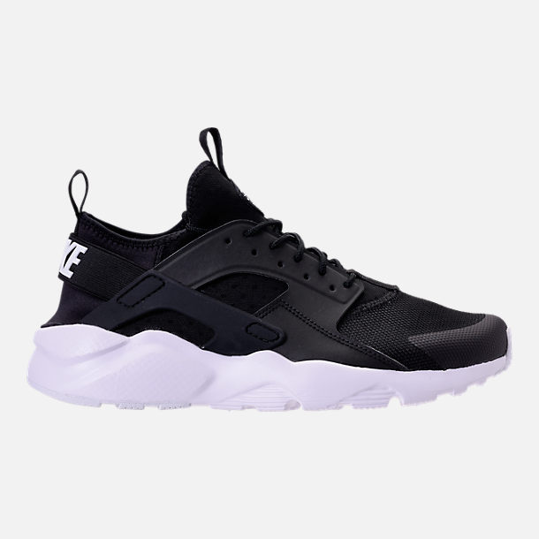 Right view of Men s Nike Air Huarache Run Ultra Casual Shoes in Black White 9fc199147