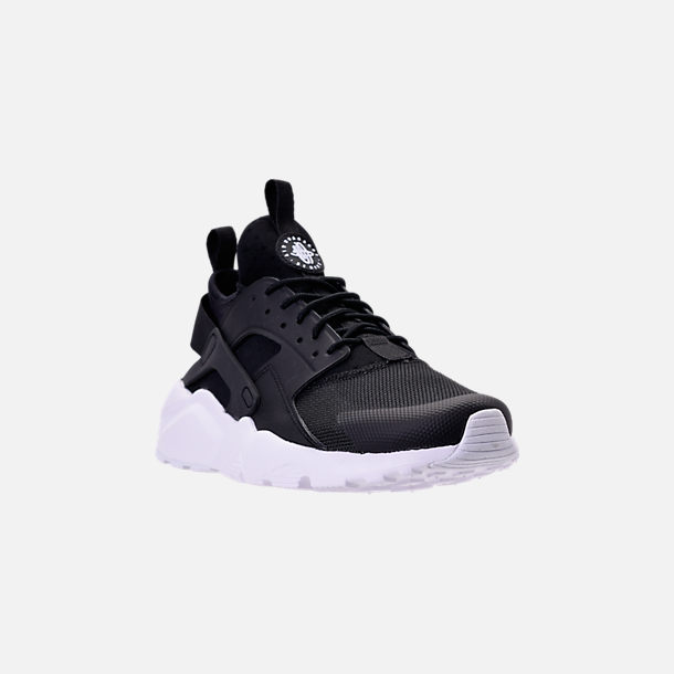purchase cheap 767ec 3bae8 Three Quarter view of Men s Nike Air Huarache Run Ultra Casual Shoes in  Black White