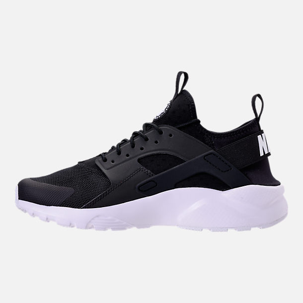 Left view of Men's Nike Air Huarache Run Ultra Casual Shoes in Black/White