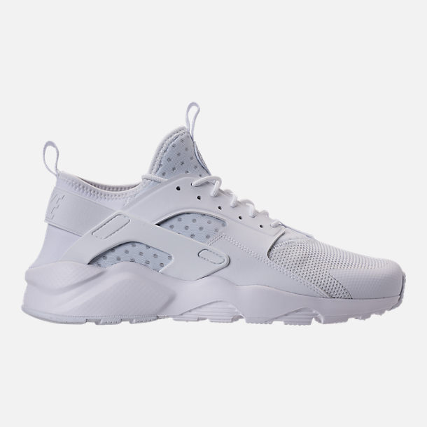 Right view of Men's Nike Air Huarache Run Ultra Casual Shoes in Triple White