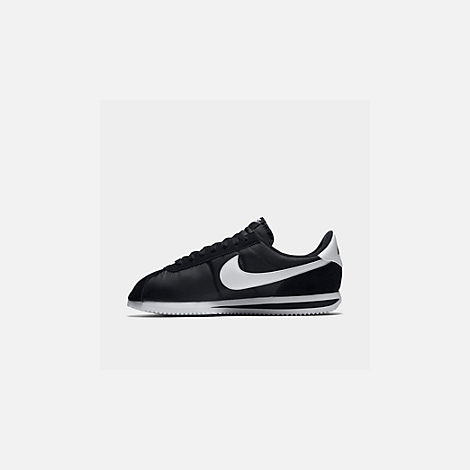 new product 21fb8 13847 Front view of Men s Nike Cortez Basic Nylon Casual Shoes in  Black White Metallic