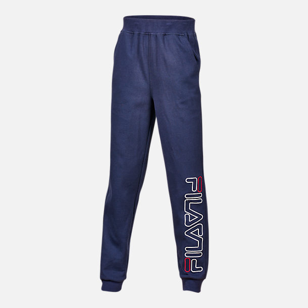 Front view of Boys' Fila Heritage Jogger Pants in Navy