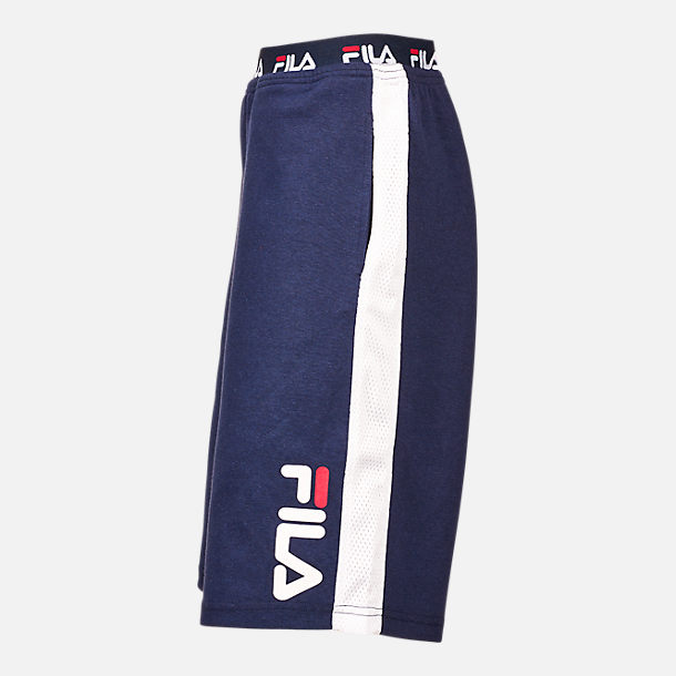 Back view of Boys' Fila Heritage Logo Shorts in Navy