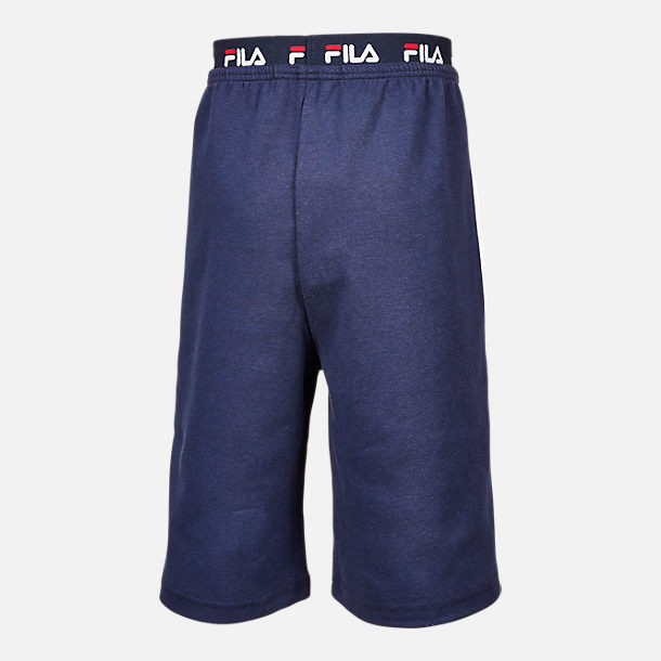Alternate view of Boys' Fila Heritage Logo Shorts in Navy