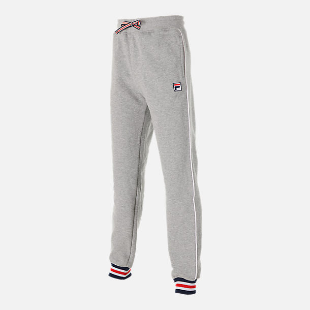 Front view of Boys' Fila Varsity Jogger Pants in Grey Heather