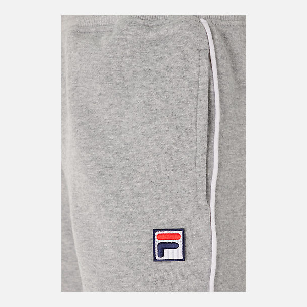 Back view of Boys' Fila Varsity Jogger Pants in Grey Heather