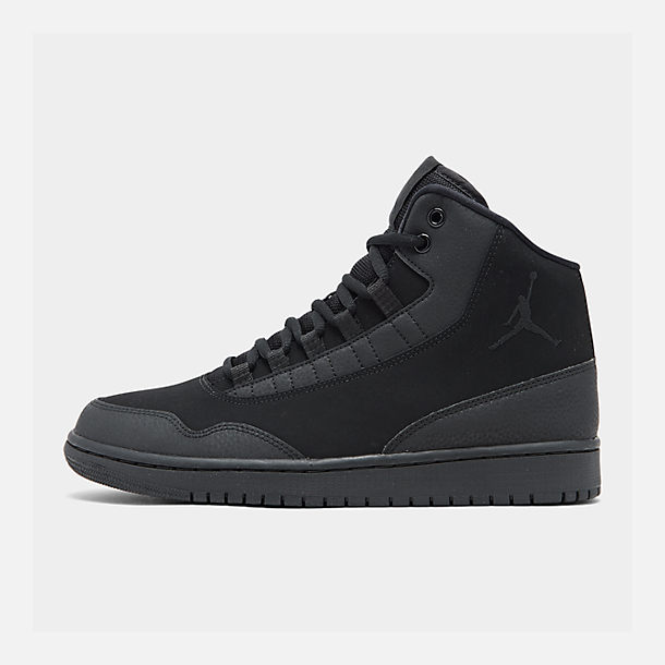 Right view of Men's Air Jordan Executive Off-Court Shoes in Black/Black/Black