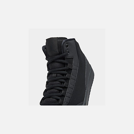 Front view of Men's Air Jordan Executive Off-Court Shoes in Black/Black/Black