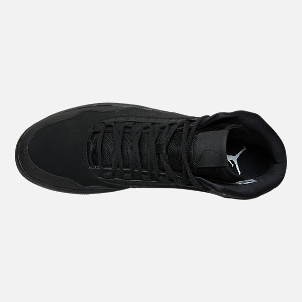 Top view of Men's Air Jordan Executive Off-Court Shoes in Black/Black/Black