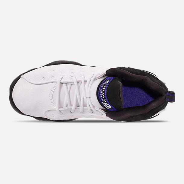73a0a8da1ae37 Top view of Boys' Big Kids' Jordan Jumpman Team II Basketball Shoes in White