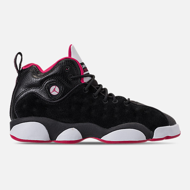 Right view of Girls' Grade School Jordan Jumpman Team II (3.5y-9.5y) Basketball Shoes