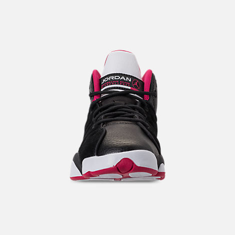 Front view of Girls' Grade School Jordan Jumpman Team II (3.5y-9.5y) Basketball Shoes