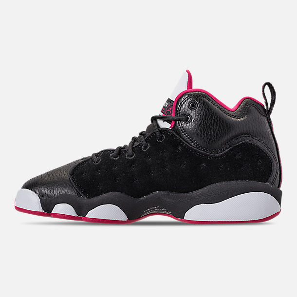 Left view of Girls' Grade School Jordan Jumpman Team II (3.5y-9.5y) Basketball Shoes