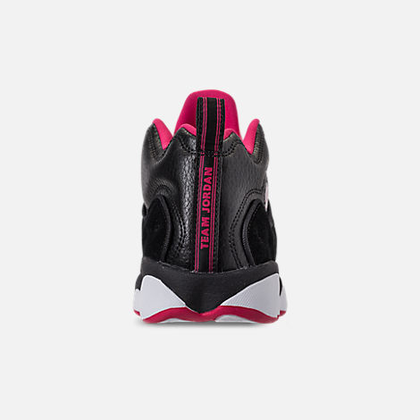 Back view of Girls' Grade School Jordan Jumpman Team II (3.5y-9.5y) Basketball Shoes