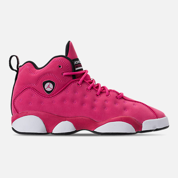 ba67a41ff1cf7 Girls  Big Kids  Jordan Jumpman Team II (3.5y-9.5y) Basketball Shoes ...