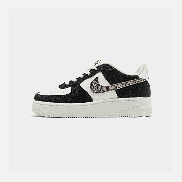Right view of Boys' Big Kids' Nike NBA Air Force 1 Low LV8 Casual Shoes in Summit White/Black