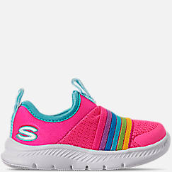 Girls' Toddler Skechers Comfy Flex 2.0 Hook-and-Loop Casual Shoes
