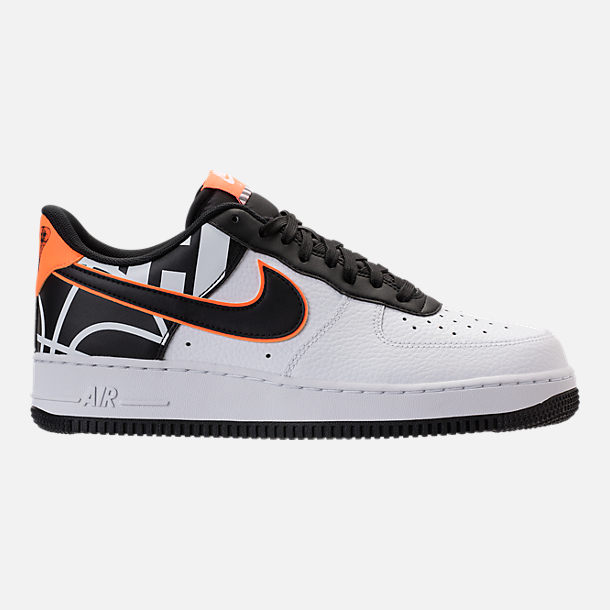 Right view of Men's Nike NBA Air Force 1 '07 LV8 Casual Shoes in White/Black