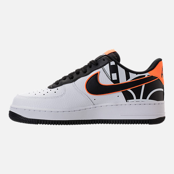Left view of Men's Nike NBA Air Force 1 '07 LV8 Casual Shoes in White/Black