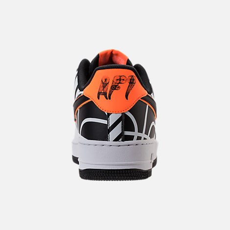 Back view of Men's Nike NBA Air Force 1 '07 LV8 Casual Shoes in White/Black