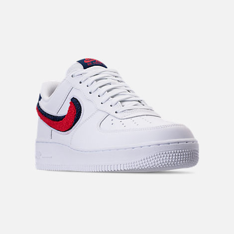 Three Quarter view of Men's Nike NBA Air Force 1 '07 LV8 Casual Shoes in