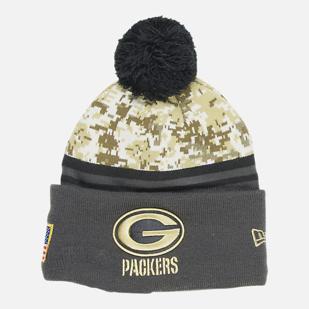 san francisco 3f3a3 47116 New Era Green Bay Packers NFL 2016 Salute To Service Knit ...