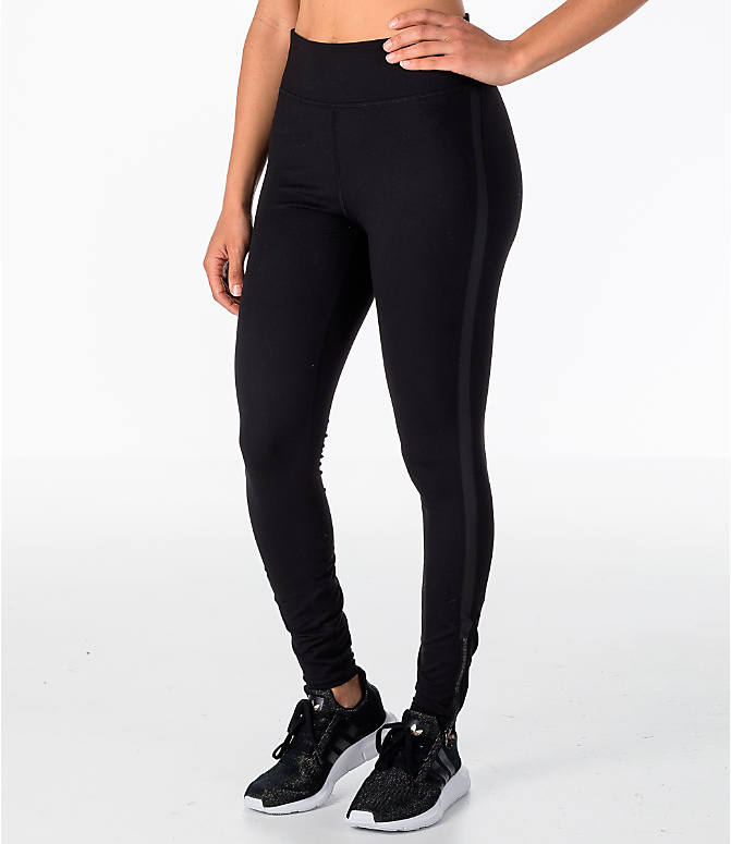 Front view of Women's Activ8 Bowery Ankle Grazer Training Leggings in Black