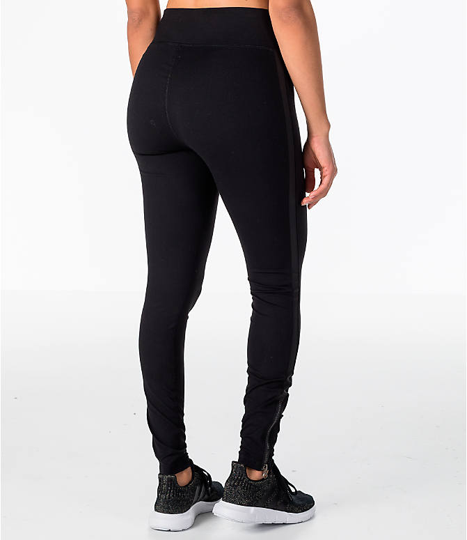 Back Right view of Women's Activ8 Bowery Ankle Grazer Training Leggings in Black