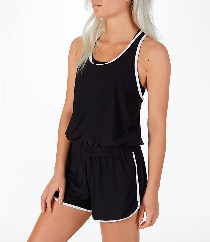 Front view of Women's Activ8 Romper in Black