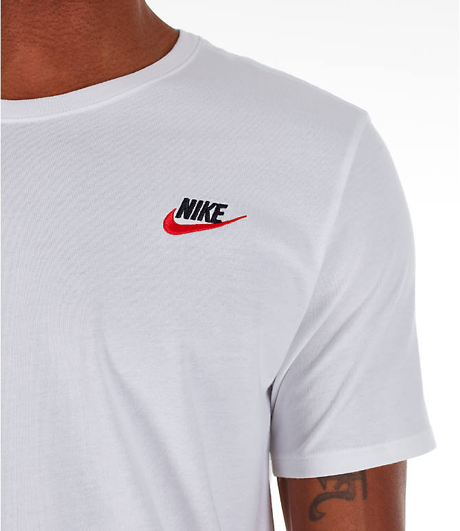 Detail 1 view of Men's Nike Core T-Shirt in Red/White