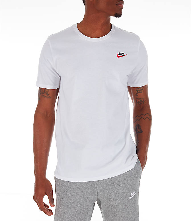 Front view of Men's Nike Core T-Shirt in Red/White