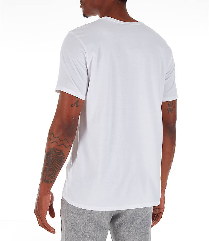 Back Left view of Men's Nike Core T-Shirt in Red/White