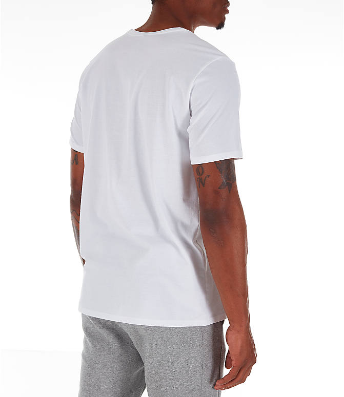 Back Right view of Men's Nike Core T-Shirt in Red/White