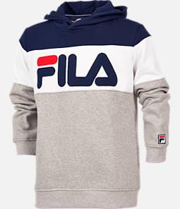 Boys' FILA Coloblocked Pullover Hoodie