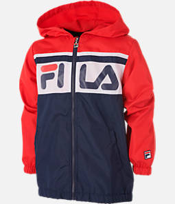 Boys' Fila Colorblock Full-Zip Hooded Windbreaker Jacket