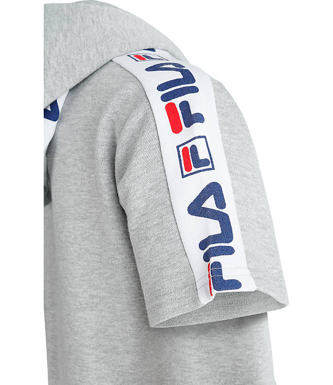 Product 3 view of Boys' Fila Mindblower Short-Sleeve Hoodie in Grey Heather