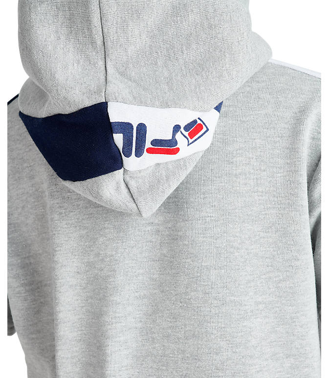 Product 4 view of Boys' Fila Mindblower Short-Sleeve Hoodie in Grey Heather