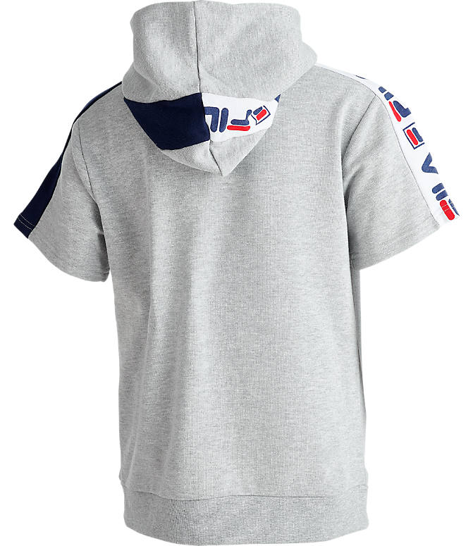 Product 5 view of Boys' Fila Mindblower Short-Sleeve Hoodie in Grey Heather